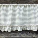 Linen Valance With Ruffles Striped Linen Curtain Linenbee