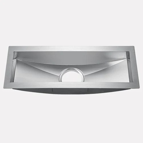 22 fraser stainless steel single bowl sloped bottom undermount sink