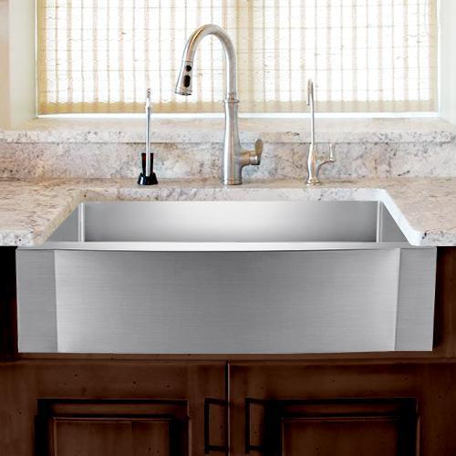 24 vaiden stainless steel single bowl farmhouse sink rippled apron