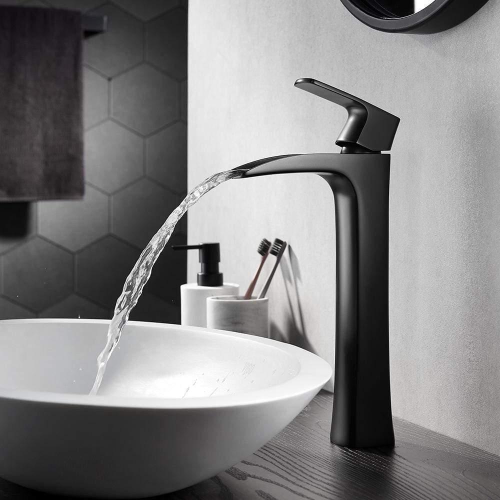 waler single lever vessel bathroom faucet