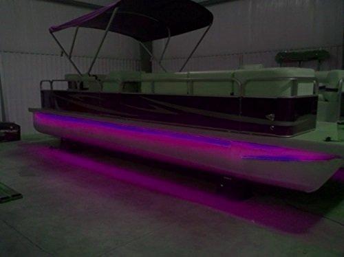 pimp my pontoon black light ultraviolet uv led under deck lighting diy kit 30 000 lumens includes bonus red green navigation lights