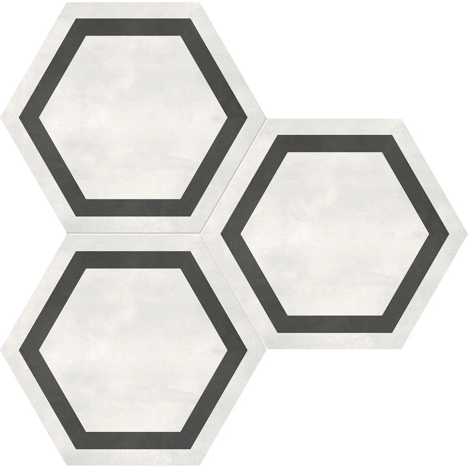 anatolia form hd 7 in x 8 in hexagon frame porcelain tile ivory