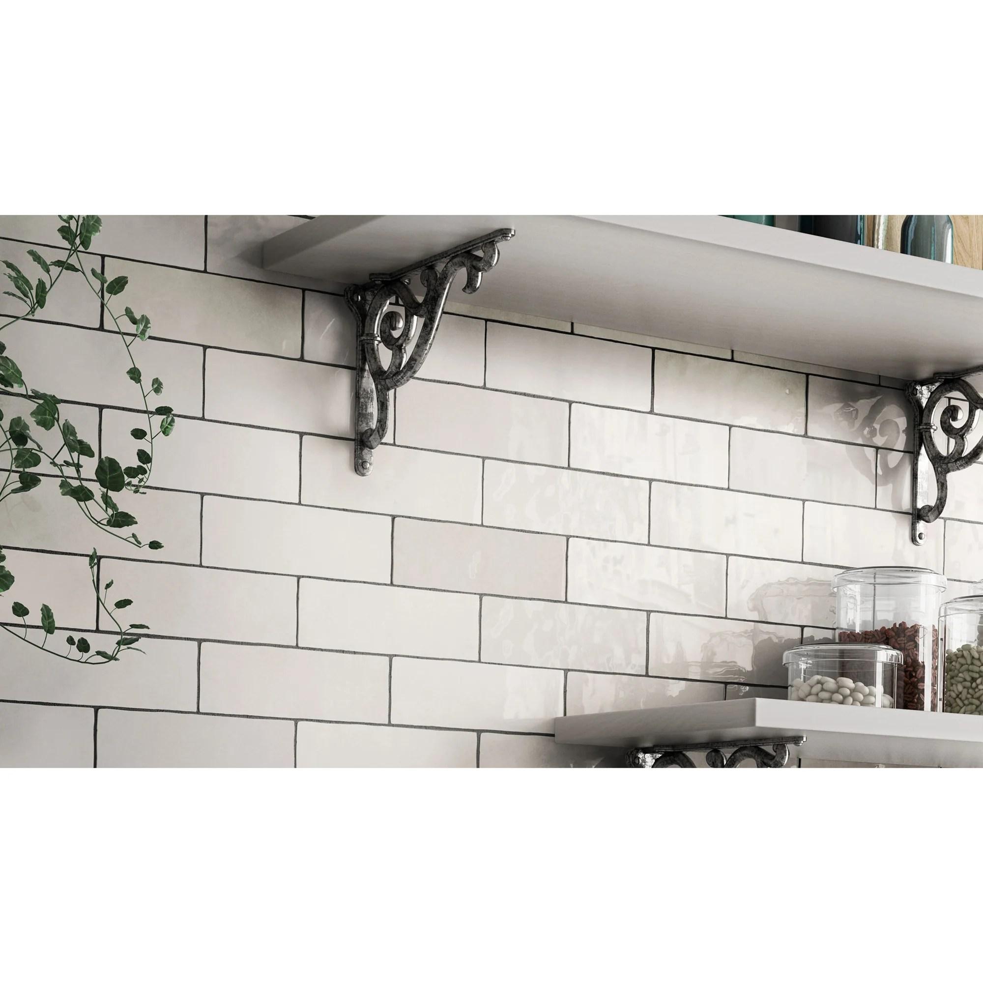 bedrosians tile stone cloe 2 5 x 8 wall tile white