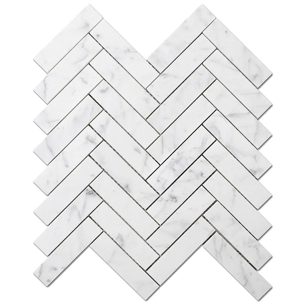 dw tile stone 1x4 herringbone bianco gioia marble mosaic tile polished