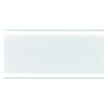 daltile color wave glass 3 in x 6 in subway tile ice white