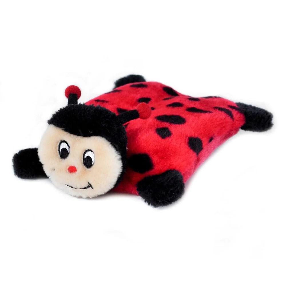 Ladybug Dog Toy Without Stuffing Zippypaws Prized Pet
