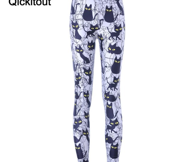 Free Shipping New Hot Sexy Women New Pants Womens Trousers Fashion Cute Cartoon Black Cat Pant Capris Cute New Fitness Womens Leggings