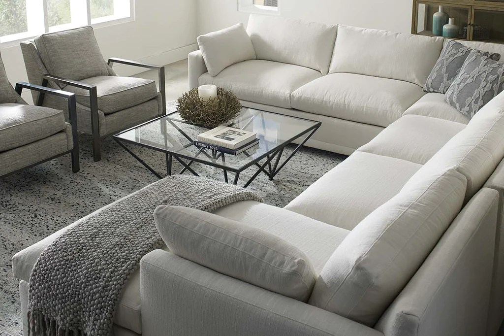 faith 3 piece oversized deep seated fabric chaise sectional sofa as configured