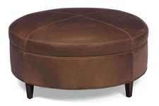leather cocktail ottomans leather
