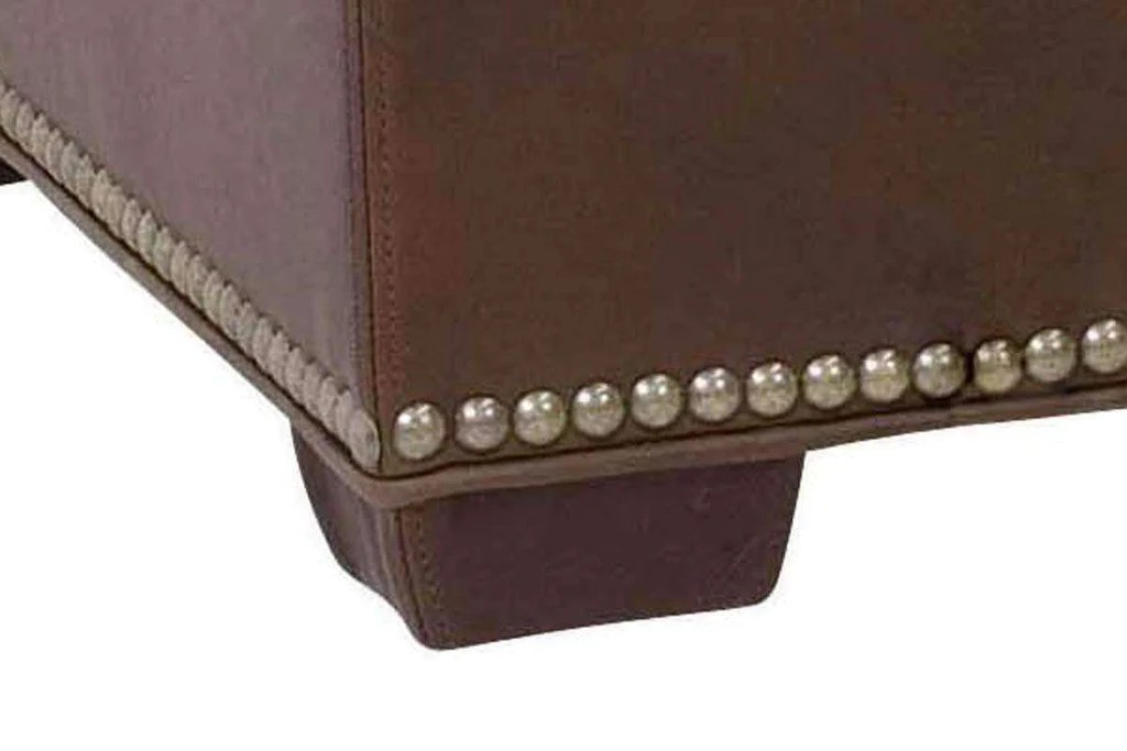 donnely 43 inch long leather storage ottoman bench