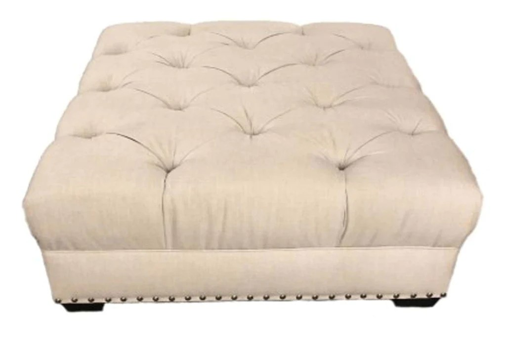 gaines tufted 36 40 44 or 48 inch square leather ottoman 4 sizes available