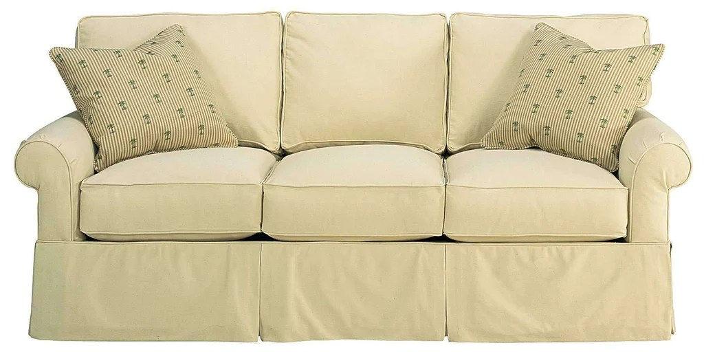 Emily Designer Style Faux Slipcover Lifestyle Sofa Collection