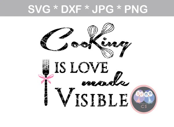 Download Cooking is love made visible, kitchen, wisk, baking ...