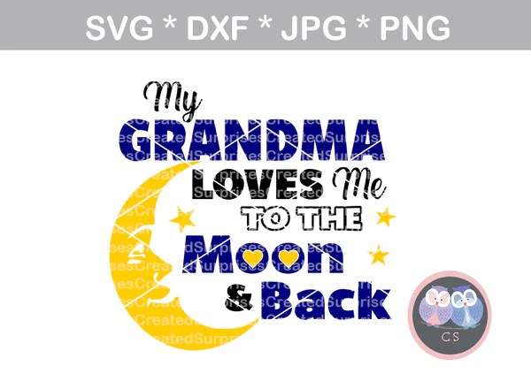 Download Grandma loves me to the moon and back, digital download ...
