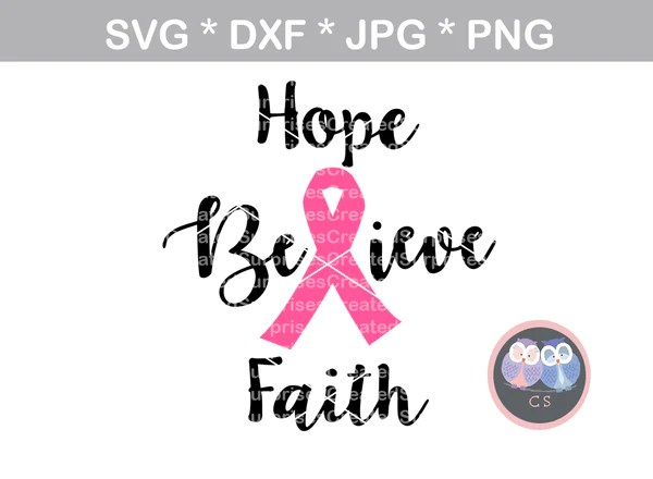 Download Hope, Believe, Faith, Pink Ribbon, cancer awareness ...
