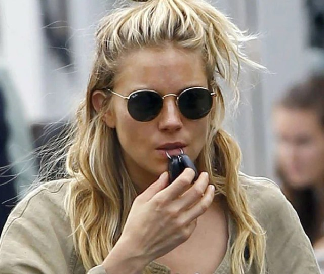 Sienna Miller Style Metal Rounded Celebrity Sunglasses