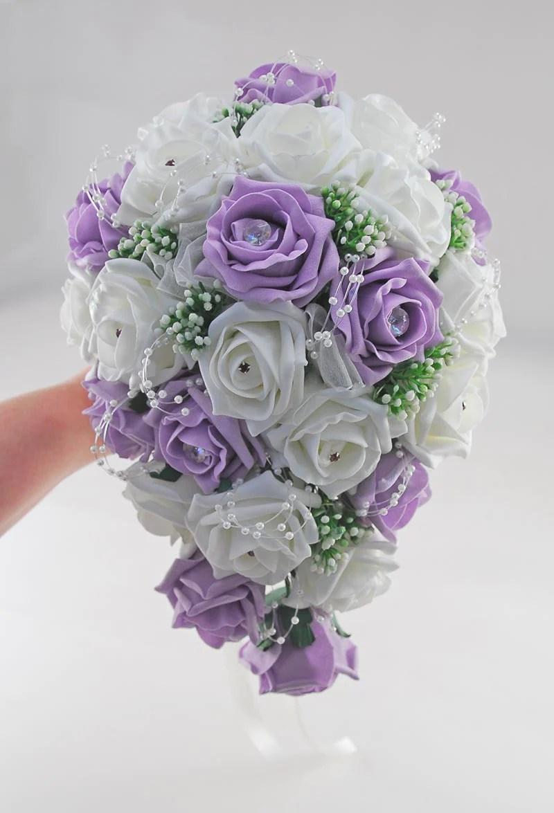 Brides Lilac Ivory Rose Amp Gypsophila Wedding Shower
