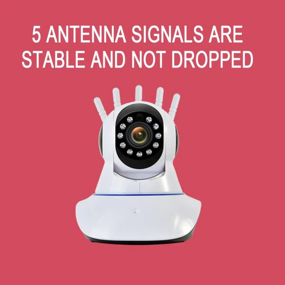 V380 2MP 1080P 5 Antena Wireless WIFI IP Camera