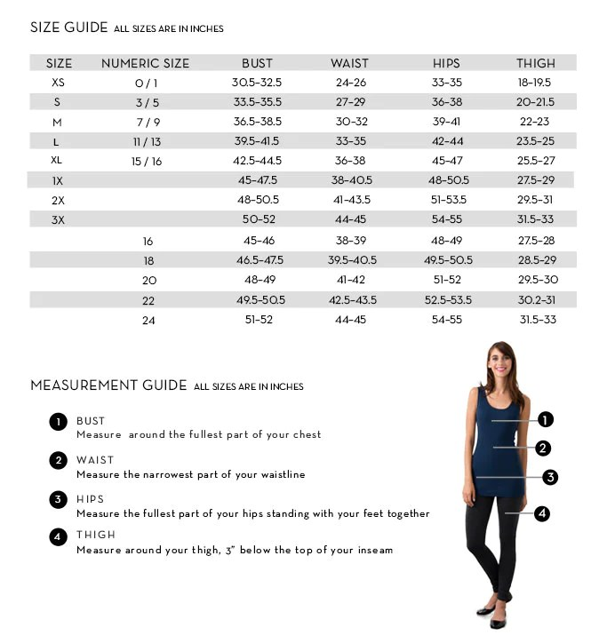 Size ChartSuzy Shier