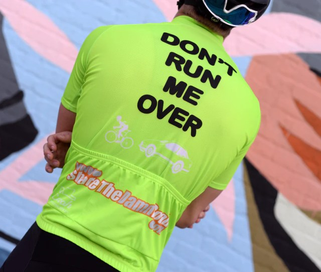 Limited Edition Neon Green Dont Run Me Over Ver 3 0 Cycling Jersey