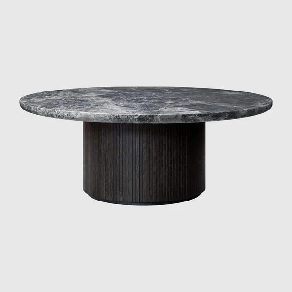 moon coffee table round 120cm diameter marble top gubi webshop