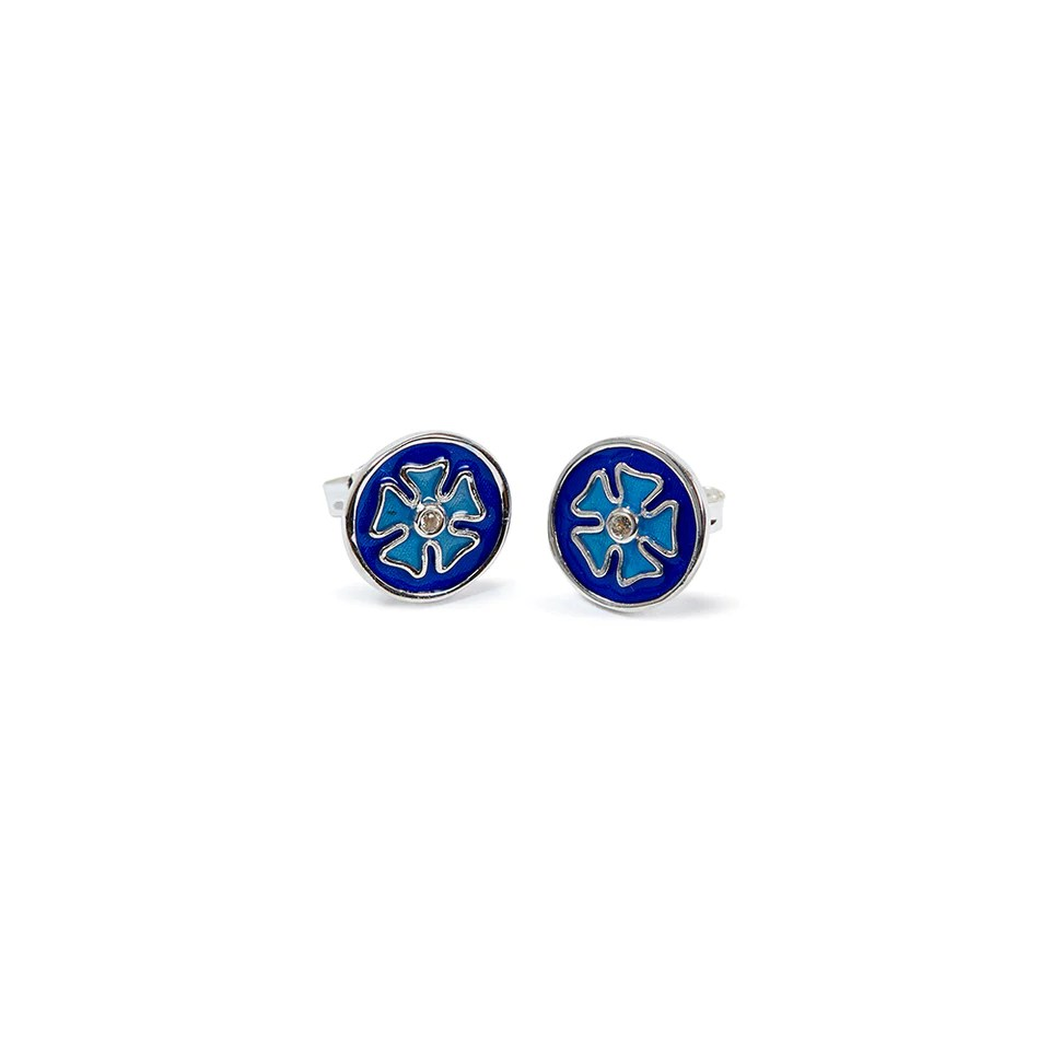 sterling silver tile earrings blue houses of parliament shop