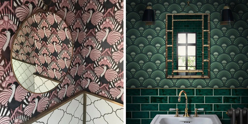 how to use wallpaper in a bathroom