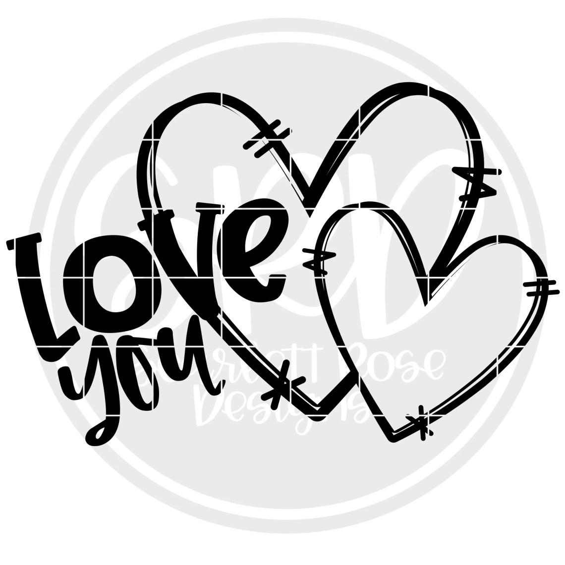 Download Valentine's Day SVG, Love You SVG - Black - Scarlett Rose ...
