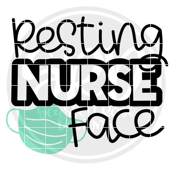 Download Nurse SVG, Resting Nurse Face SVG cut file - Scarlett Rose ...
