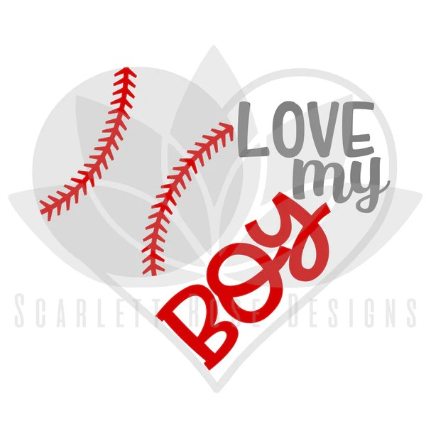 Download Baseball Heart SVG, Baseball Mom, Love my Boy cut file ...