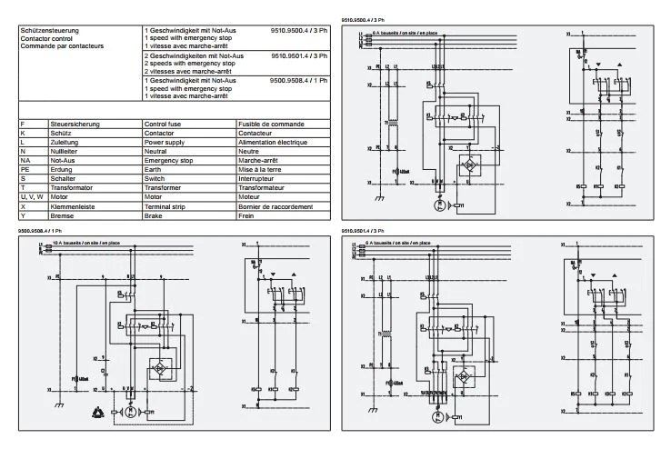 GIS GP 250500 Electric Chain Hoist  Wiring Diagram