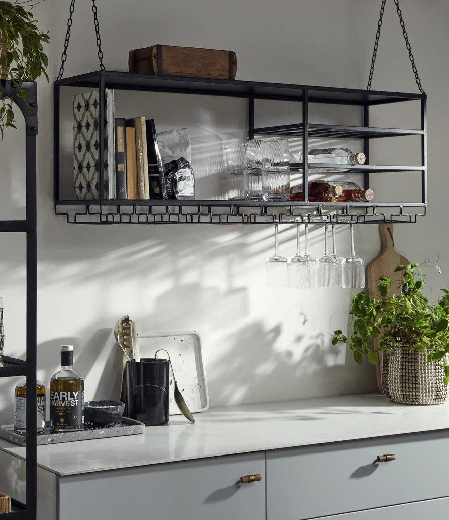 Melli Large Kitchen Wall Shelf Ceiling Hanging Shelves Vaunt Design