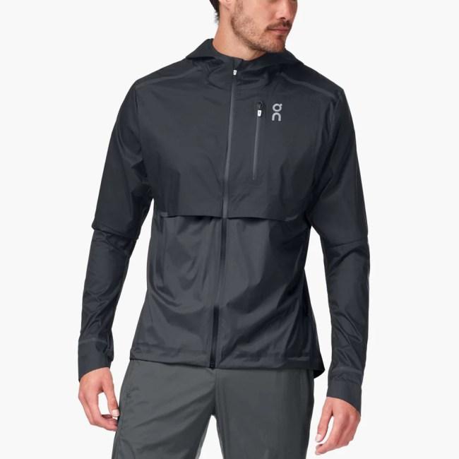 On Weather Jacket Men's Running Apparel Black/Shadow