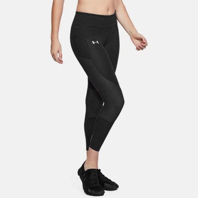 Under Armour Speedpocket Run Crop Women's Running Apparel Black/Reflective