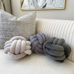 Light Grey Knot Pillow 2 Sizes Inspire Me Home Decor