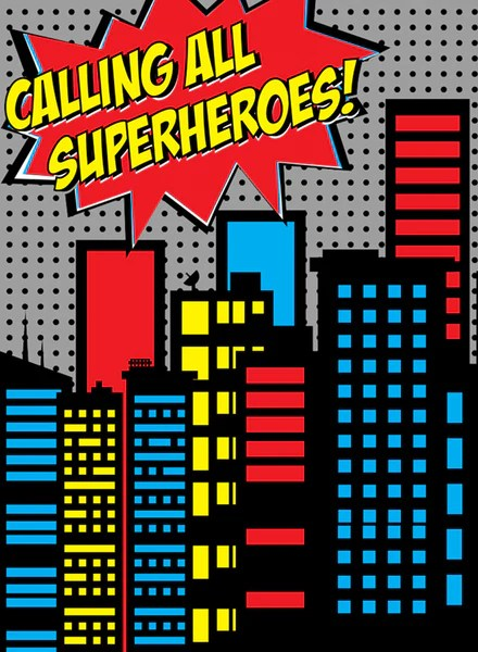 Calling All Superheroes Backdrop Click Props Studio