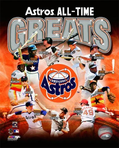 houston astros all time greats 11 legends premium mlb poster print photofile inc