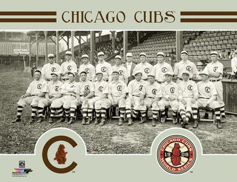 chicago cubs 1908 world series champions team portrait premium poster print photofile inc