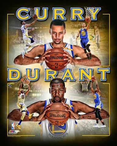 stephen curry and kevin durant warriors golden state warriors premium poster photofile 16x20