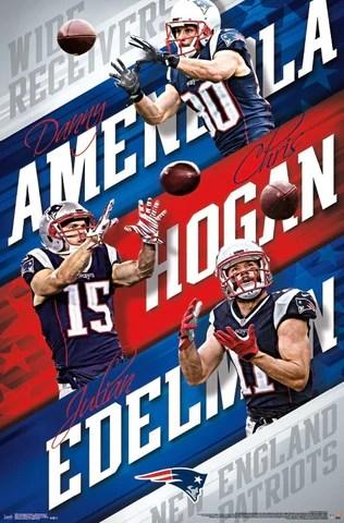 new england patriots receiver trio edelman amendola hogan poster trends international