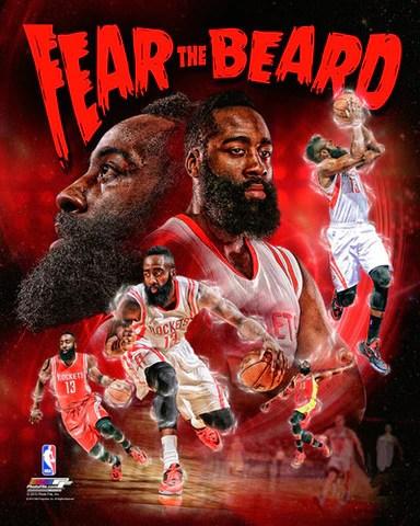 james harden fear the beard houston rockets premium 20x24 poster print photofile inc