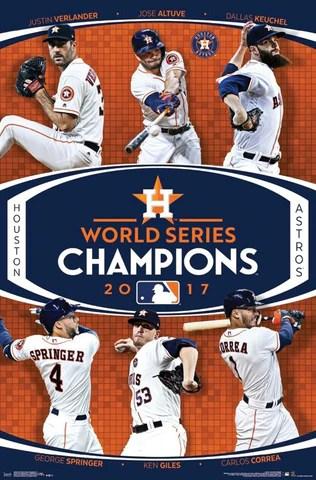 houston astros 2017 world series champions 6 player commemorative poster trends international
