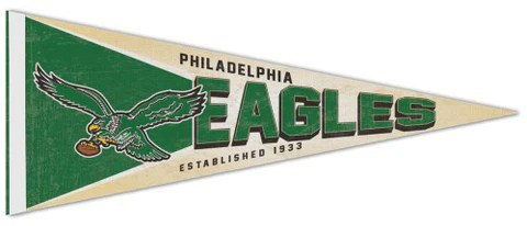 philadelphia eagles attacking bird nfl retro style premium felt collector s pennant wincraft inc