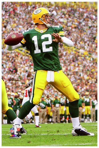 aaron rodgers poster perfection collection green bay packers premium 24x36 poster print photofile