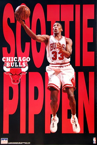 scottie pippen big time 1997 chicago bulls poster starline inc