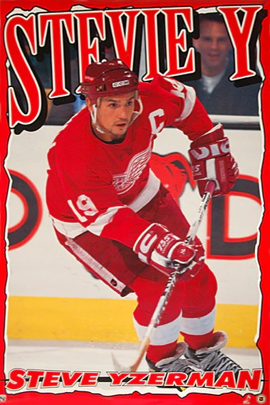 steve yzerman stevie y detroit red wings nhl action poster norman james corp 1995