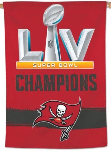 tampa bay buccaneers super bowl lv champions 2021 official nfl 28 x 40 banner wincraft inc