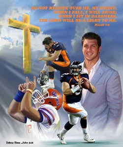 tim tebow tebow time premium poster print wishum gregory 2012