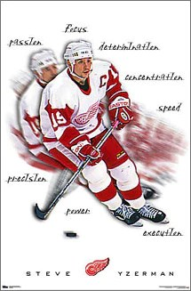 steve yzerman inspiration detroit red wings poster costacos 2000
