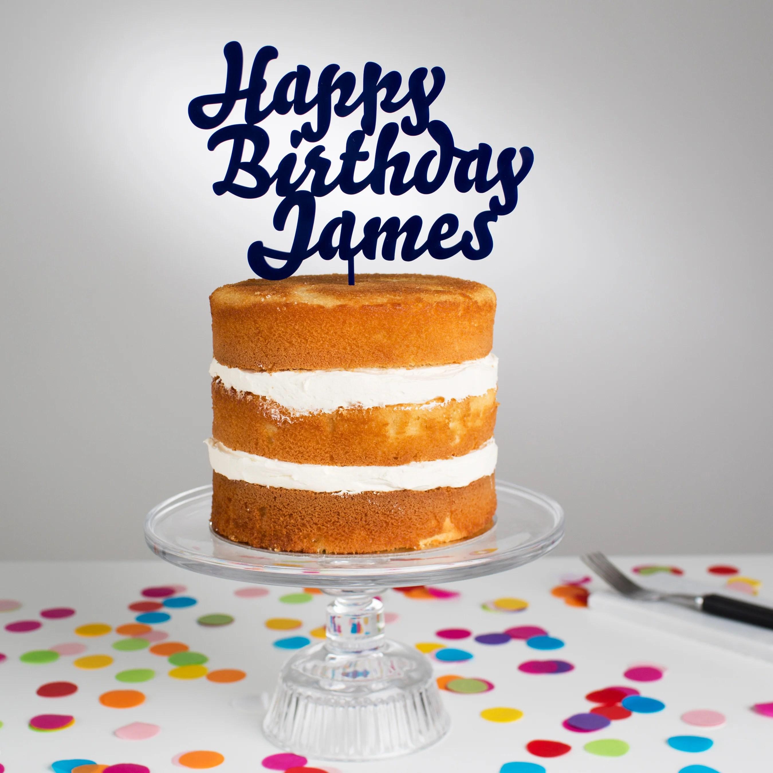 Personalised Happy Birthday Cake Topper Twenty Seven